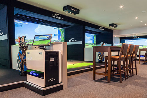 X-Golf Avonhead Simulators and Gaming Area
