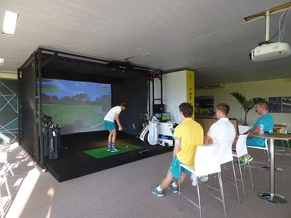 X-Golf Simulator Played By Australian Athletes