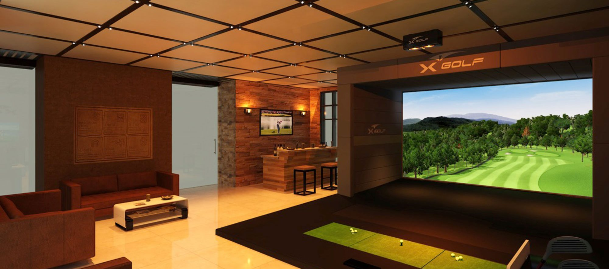 X-Golf Commercial Installation 3D Render