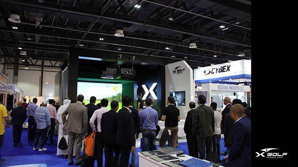 X-Golf Simulator at Trade Show