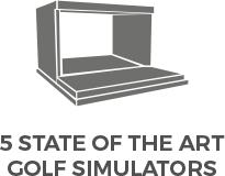 X-Golf Simulator Line Drawing