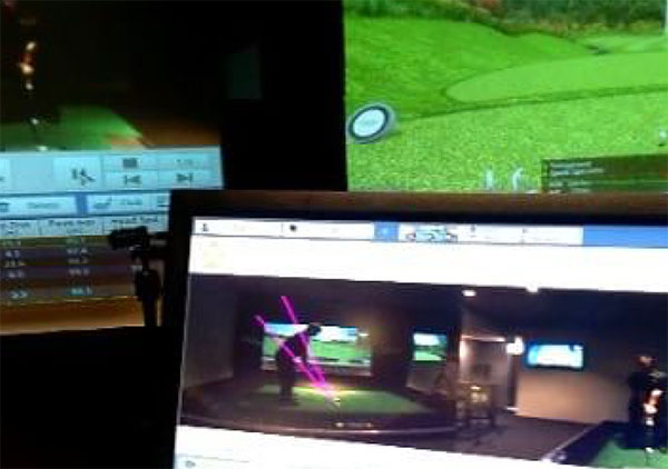 X-Golf Lessons Screen