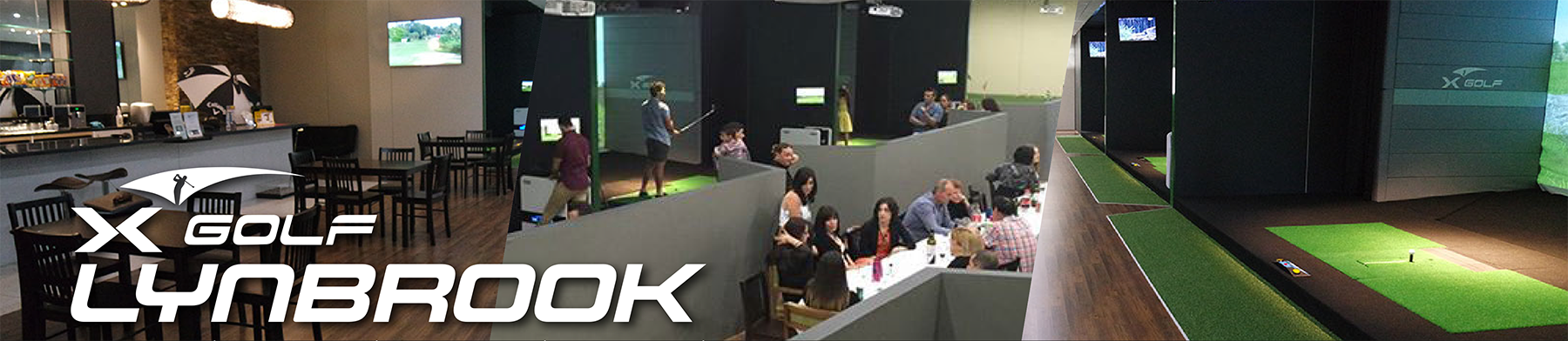 X-Golf Lynbrook Collage - Venue, Simulators and Players