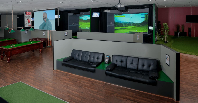 X-Golf Lynwood Simulators and Lounge Area