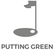 X-Golf Putting Green Line Drawing - Green and Pin