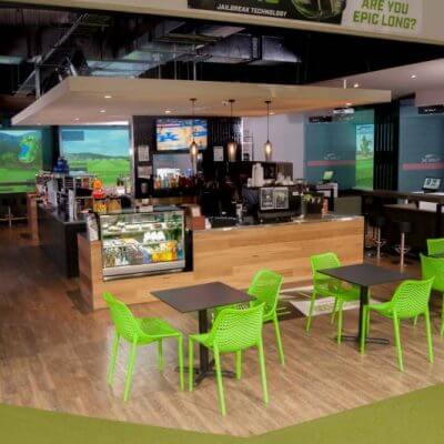 X-Golf Mentone - Bar, Cafe and Food serving Area
