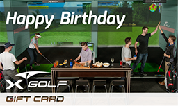 X-Golf Gift Vouchers - Happy Birthday - Group Playing X-Golf