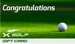 X-Golf Gift Vouchers - Congraulation - Ball on green