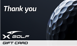 X-Golf Gift Vouchers - Thank You - Golf Ball close up