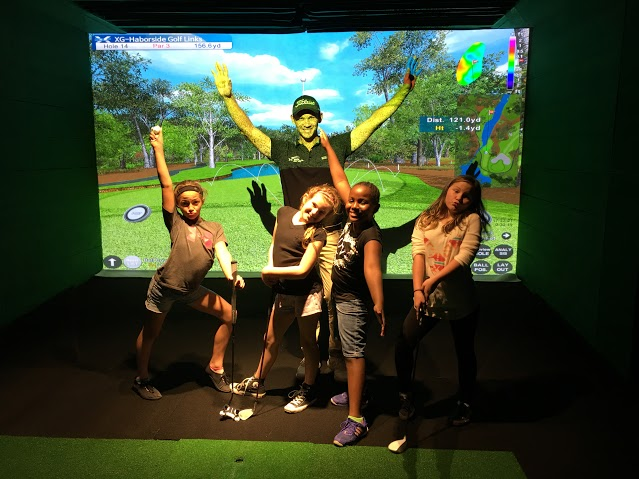 Group of Kids having fun at X-Golf