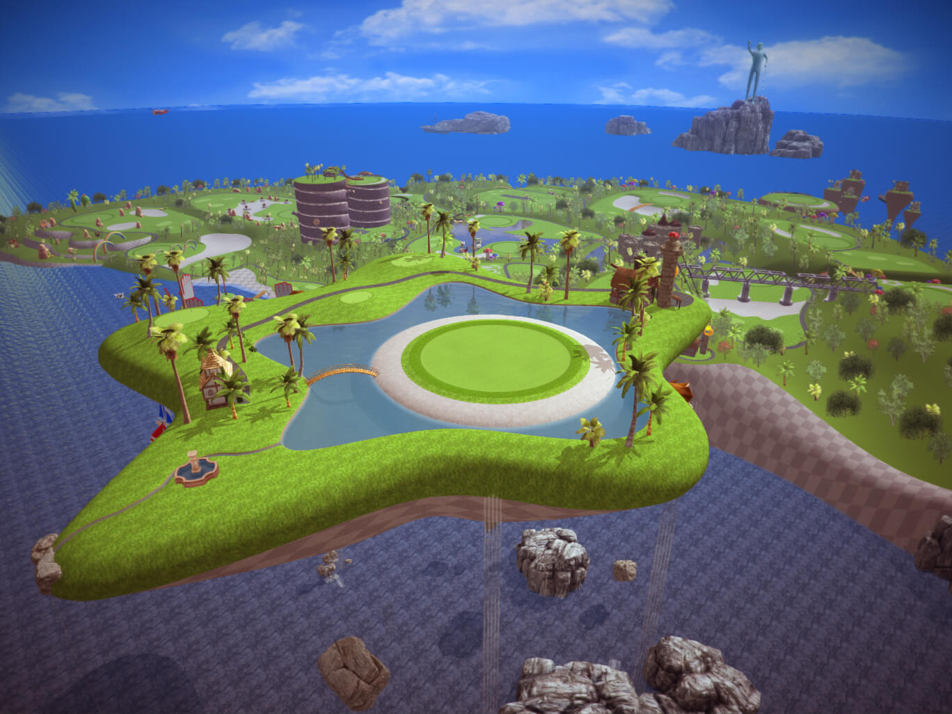 Screen Image of X-Golf Moonlight Kids Golf Course