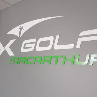X-Golf Macarthur Sign