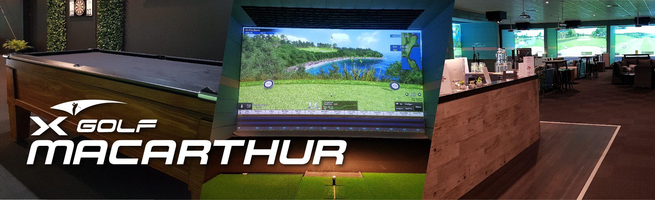 X-Golf Macarthur Page Header