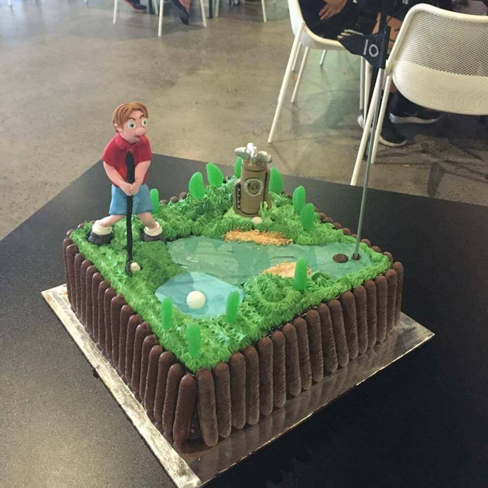 X-Golf Birthday Cake