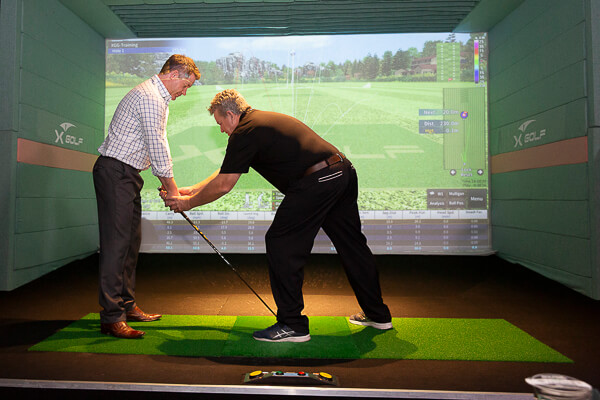 X-Golf Golf lesson Andrew